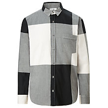 Buy Cheap Monday Neo Soft Check Flannel Shirt, Grey/Black Online at johnlewis.com