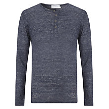 Buy Eleven Paris Henley Jersey Top, Navy Chine Online at johnlewis.com
