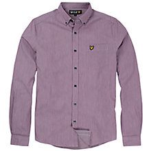 Buy Lyle & Scott End on End Shirt, Blackcurrant Online at johnlewis.com