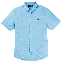Buy Lyle & Scott Short Sleeve Gingham Shirt, Blue Online at johnlewis.com