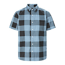 Buy Cheap Monday Air Denim Check Shirt, Blue Online at johnlewis.com