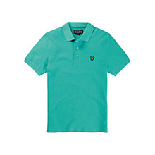 Buy Lyle & Scott Pique Cotton Polo Shirt, Vert Green Online at johnlewis.com