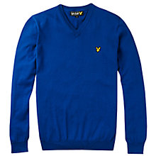 Buy Lyle & Scott Cotton V-Neck Jumper, Blue Online at johnlewis.com