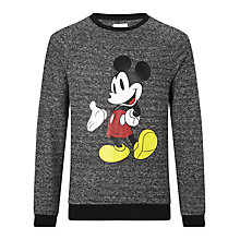 Buy Eleven Paris Mickey Mouse Sweatshirt, Grey Online at johnlewis.com