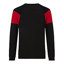Buy Eleven Paris Gelmi Colour Block Sweatshirt, Black/Red Online at johnlewis.com