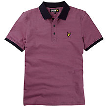 Buy Lyle & Scott Fine Stripe Polo Shirt, Hot pink Online at johnlewis.com