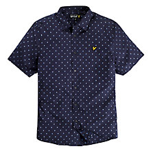 Buy Lyle & Scott Clipped Dobby Shirt, New Navy Online at johnlewis.com