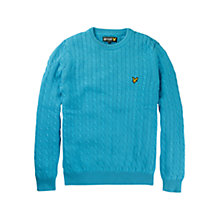Buy Lyle & Scott Cable Knit Crew Neck Jumper Online at johnlewis.com