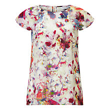 Buy COLLECTION by John Lewis Aida Dig Print Silk Blouse, Multi Online at johnlewis.com