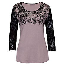Buy Betty Barclay  Floral Lace T-shirt, Taupe/Black Online at johnlewis.com