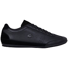 Buy Lacoste Misano 34 Leather Trainers, Black Online at johnlewis.com