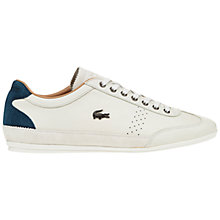 Buy Lacoste Misano 34 Leather Trainers, Off White Online at johnlewis.com