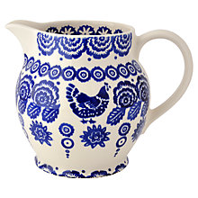 Buy Emma Bridgewater Hen and Border Jug, Blue Online at johnlewis.com