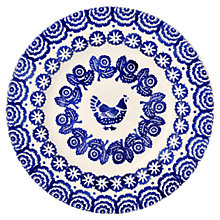Buy Emma Bridgewater Hen and Border Plate, Blue Online at johnlewis.com
