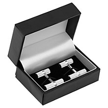 Buy Reiss Raven Cog Barrel Cufflinks, Silver Online at johnlewis.com