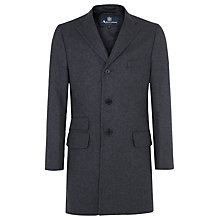 Buy Aquascutum Piccadilly Single Breasted Wool Overcoat, Grey Online at johnlewis.com