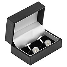Buy Reiss Falcon Button Cufflinks, Silver Online at johnlewis.com