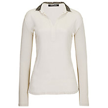 Buy Betty Barclay Detachable Bead Collar Blouse, Light Beige Online at johnlewis.com