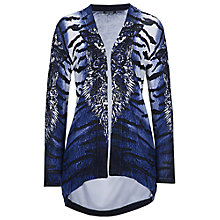 Buy Betty Barclay Animal Print Edge To Edge Cardigan, Blue/Cream Online at johnlewis.com