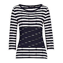 Buy Betty Barclay Stripe T-shirt, Dark Blue/Cream Online at johnlewis.com