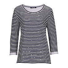 Buy Betty Barclay Stripe Cotton Jumper, Dark Blue/Cream Online at johnlewis.com