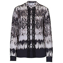 Buy Betty Barclay Snake Print Blouse, Black/Taupe Online at johnlewis.com