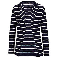 Buy Betty Barclay Stripe Textured Cotton Cardigan, Dark Blue/Cream Online at johnlewis.com