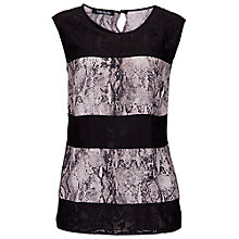Buy Betty Barclay Snake Print Sleeveless Blouse, Black / Taupe Online at johnlewis.com