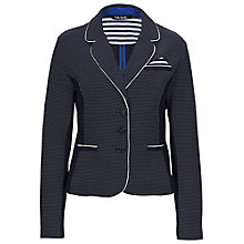 Buy Betty Barclay Two Tone Jersey Jacket, Dark Blue/Cream Online at johnlewis.com