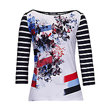Buy Betty Barclay Abstract Flower T-Shirt, Multi Online at johnlewis.com