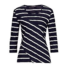 Buy Betty Barclay Textured T-shirt, Dark Blue/Cream Online at johnlewis.com