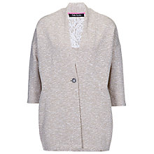 Buy Betty Barclay Oversized Cardigan, Taupe / Cream Online at johnlewis.com