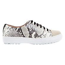 Buy Mint Velvet Brandy Leather Trainers, Black/Snake Print Online at johnlewis.com