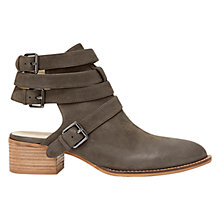 Buy Mint Velvet Caley Leather Cut Out Ankle Boots, Grey Online at johnlewis.com