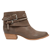 Buy Mint Velvet Lucy Nubuck Ankle Boots, Grey Online at johnlewis.com