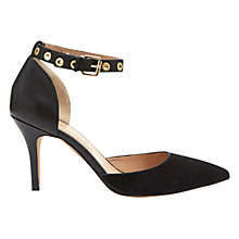 Buy Mint Velvet Skye Leather Court Shoes, Black Online at johnlewis.com