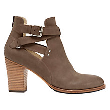 Buy Mint Velvet Davina Leather Cut Out Ankle Boots, Grey Online at johnlewis.com