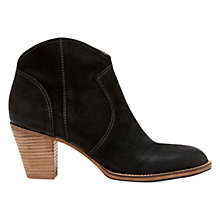 Buy Mint Velvet Eva Leather Ankle Boots, Black Online at johnlewis.com
