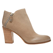 Buy Mint Velvet Paige Leather Ankle Boots, Mole Online at johnlewis.com