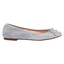 Buy Mint Velvet Charli Leather Textured Pumps, Grey Online at johnlewis.com
