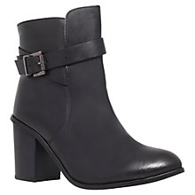 Buy Carvela Tamsin Leather Ankle Boots, Black Online at johnlewis.com