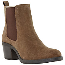 Buy Bertie Plush Suede Chelsea Boots, Brown Online at johnlewis.com