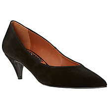 Buy Bertie Almo Pointed Leather Court Shoes, Black Online at johnlewis.com