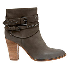 Buy Mint Velvet Amber Leather Stud Ankle Boots, Mole Leather Online at johnlewis.com