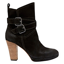 Buy Mint Velvet Daisy Leather Ankle Boots, Black Online at johnlewis.com