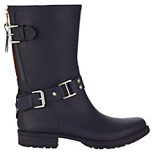 Buy Jigsaw Short Biker Wellington Boots, Navy Online at johnlewis.com