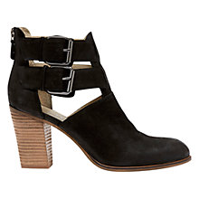 Buy Mint Velvet Nonie Nubuck Cut Out Ankle Boots, Black Online at johnlewis.com