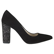 Buy Jigsaw Fran Suede Sparkle Heel Court Shoes Online at johnlewis.com