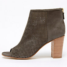 Buy Mint Velvet Maddison Leather Shoe Boots, Grey Online at johnlewis.com