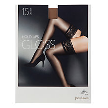 Buy John Lewis 15 Denier Gloss Hold-Ups, Pack of 1, Natural Tan Online at johnlewis.com